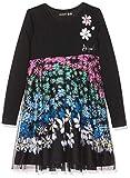 Desigual Mädchen Dress Oaxaca Kleid, Schwarz (Negro 2000), 152 (Herstellergröße: 11/12)