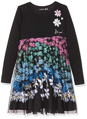 Desigual Mädchen Dress Oaxaca Kleid, Schwarz (Negro 2000), 164 (Herstellergröße: 13/14)