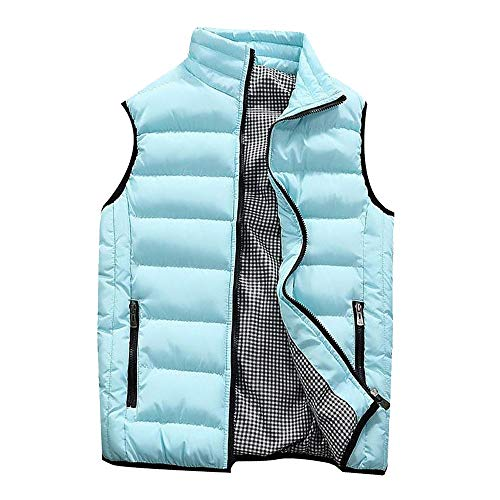 Great Deal! NEARTIME Puffer Vest Men Qulited Winter Padded Sleeveless Jackets Gilet for Casual Work ...