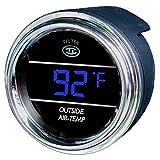 Teltek USA Auto Thermometer Gauge for Kenworth 2005 or Previous - Bezel: Black - LED Color: Blue