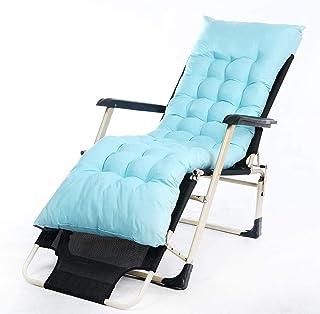 Cojín para asiento Cojín de Espuma Memoria Cojín p Alargar reclinable Cojín silla de oscilación de cojín con antideslizante de la cubierta Tumbona Cojín de ratón del jardín Tumbona colchón viaje del r