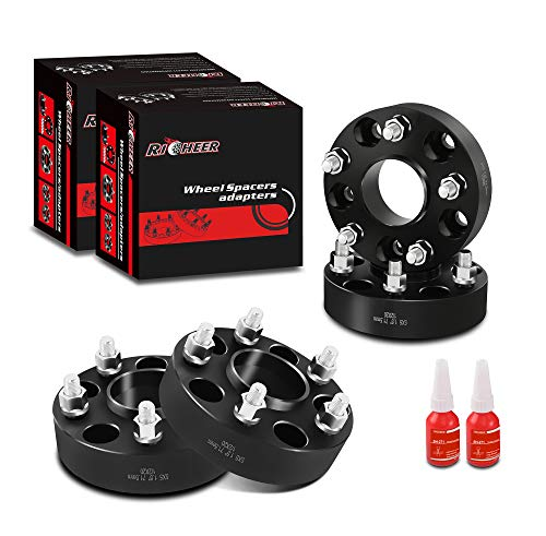 4pcs 1.5 inch hubcentric 5x5 Wheel Spacers for Jeep, 5x127mm Wheel Adapter with 1/2-20 Studs 71.5mm Hub Bore for 2007-2018 Jeep Wrangler JK, 1999-2010 Grand Cherokee WJ WK, 2006-2010 Commander XK