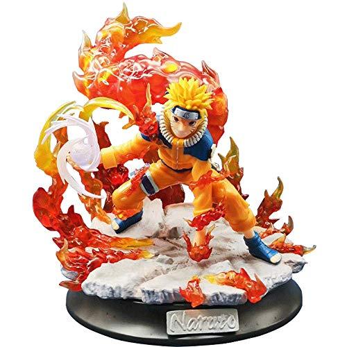 Figura de Uzumaki Naruto, modelo de personaje de Naruto de 13 pulgadas, figuras brillantes de Valley Of The End, material de PVC, imagen de Anime Boy para decoración y colección, regalo de cumpleaños