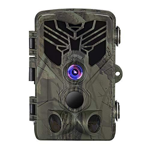 SUNTEKCAM Wildkamera 16MP 1080P Full HD Profi Outdoor Überwachungskamera Wildkamera Nachtsicht Weitwinkel IP65 wasserdicht kabellos 0,3 Sekunden Auslösezeit, Bewegungsmelder Fotofalle
