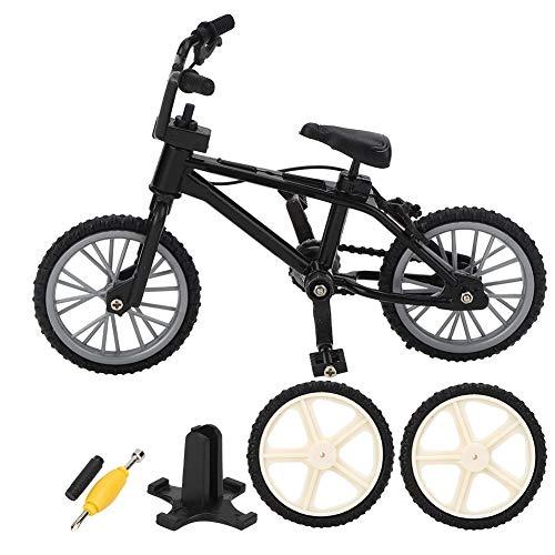 Keenso Mini Decoración Bicicleta de montaña, Modelo de Bicicleta para decoración del hogar, para Traxxas axial SCX10 D90 D110 1/10 RC Crawler,Decoración para Dormitorio(Negro)