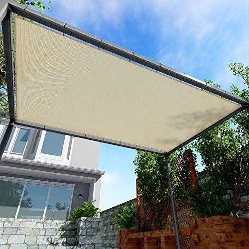 Windscreen4less Straight Edge Sun Shade Sail Rectangle Outdoor Shade Cloth Pergola Cover UV product image