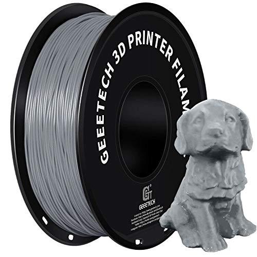 GEEETECH PETG Filament 1.75 mm 1kg Spool für 3D-Drucker, Grau