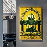 PLjVU Carteles promocionales Carteles nostálgicos Retro Cuadros en la Pared Arte decoración de la habitación Pintura Impresiones en Lienzo en la Pared-Sin marco30x45cm