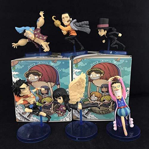 MxZas Una Pieza de carcter de Juguete Modelo de Juguete de Dibujos Animados Estatua Ace, Robin, cocodrilo de Arena Crafts Collection 6 Sistemas Jzx-n