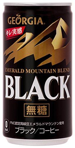 日本コカ ジョージア エメラルドマウンテン ブラック 缶 185ml