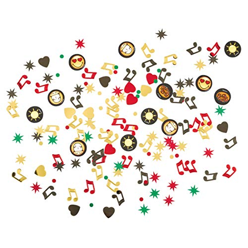 NET TOYS Konfetti Smiley Emoticons | Inhalt 34 Gramm | Angesagte Party-Deko Emoji Streudeko | Bestens geeignet für Kindergeburtstag & Sommerfest