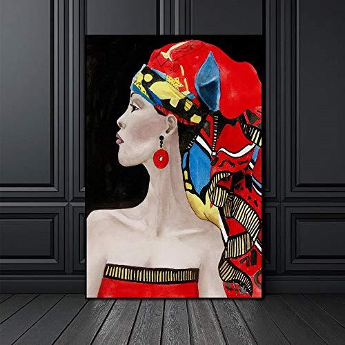 Puzzle 1000 Piezas Retrato de Reina Africana Puzzle 1000 Piezas Rompecabezas de Juguete de descompresión Intelectual Educativo Divertido Juego Familiar para niños adultos50x75cm(20x30inch)