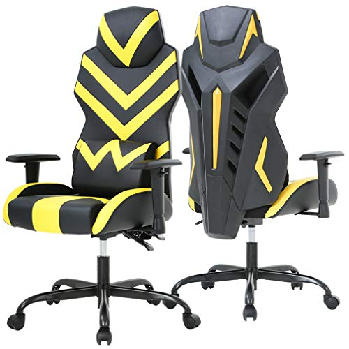 Office Chair Gaming Chair Desk Chair with Lumbar Support Adjustable Armrest Ergonomic Chair Swivel Rolling Executive Computer Chair for Adults Girl, Yellow blue chair gaming