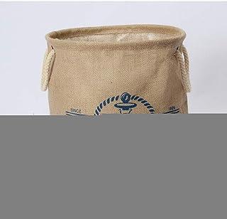 MJY Panier à linge1 * 31Cm Panier à linge pliable Boîte imperméable Organisateur Boîte de rangement en jute Panier de rang...