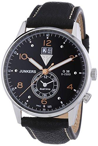 Junkers Herren-Armbanduhr XL G 38 Analog Quarz Leder 69405