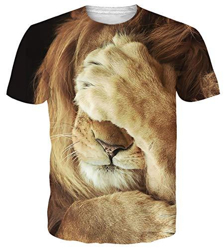 Funnycokid Unisex T-Shirt 3D-gedruckte lässige Grafik Kurzarm Tops T-Shirts