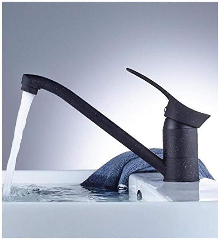 Faucet Kitchen Bathroom Retro Mixer Faucet Bathroom Basin Faucet Bathroom Faucet Brass Black Baked Single Handle Vessel Sink Hot Cold Water Tap Mixer