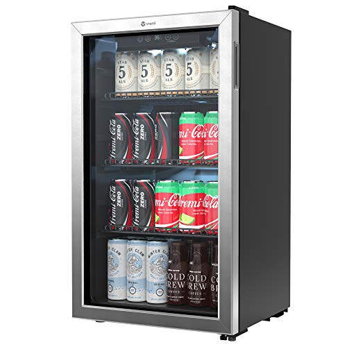 Vremi Beverage Refrigerator and Cooler - 100 to 120 Can Mini Fridge with Glass Door...