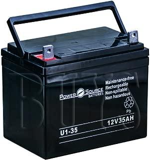BATLIQ1001, BATLIQ1008, BATLIQ1014, BATLIQ1017, MU-1 SLD M, MU-1 SLD A, UB12350, 6-FM-33, DCM0035L, SLA1155, 6-GFM-33, 6-GFM-35 Replacement Battery 12v 35ah U1-35 Sealed AGM for Pride Mobility, MK, Universal Power, Sail, Power Patrol