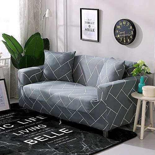 WXQY Fundas de sofá elásticas para Sala de Estar Funda de sofá Todo Incluido Estiramiento Protector de Muebles Fundas Sillones Fundas de sofá A15 2 plazas