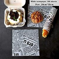 耐油ワックスペーパー紙パンサンドイッチバーガーフライ包装ベーキングツール パンオイル紙 (B3.100 sheets)