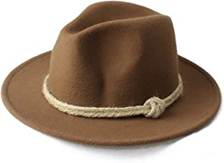 SHENTIANWEI Men Women Winter Fedora Hat Wide Brim Church Hat Panama Hat Outdoor Travel Fascinator Hat Size 56-58CM