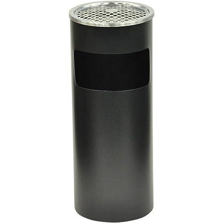 SUGGEST スタンド 灰皿 ゴミ箱付き 高さ61cm ブラック 丸型 スタンド式 屋外灰皿 喫煙所 灰皿付き ダストボックス 屋外 室内 兼用 インテリア おしゃれ