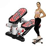 Mini Stepper Fitness Máquina de Step, hasta 140 Kg,Stepper para Hacer Ejercicio de gluteos y Cardio, Máquina Elíptica,Sistema hidráulico de absorción de pisada, Pantalla LCD
