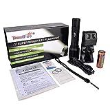 TrustFire DF007 KIT Tauchen Taschenlampe Unterwasser Lampe 800 Lumen mit CREE XM-L2 LED und...