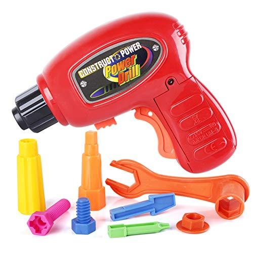 dontdo Juguetes educativos de la casa de juegos de niños, 9 piezas simulación taladro eléctrico kit de herramientas de reparación de simulación juego niños juguete multicolor