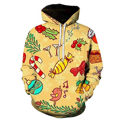 Mr.BaoLong&Miss.GO Otoño E Invierno Navidad Parejas Sudadera Suéter Chaqueta Navidad Camiseta De Manga Larga Suéter De Renos Pullover