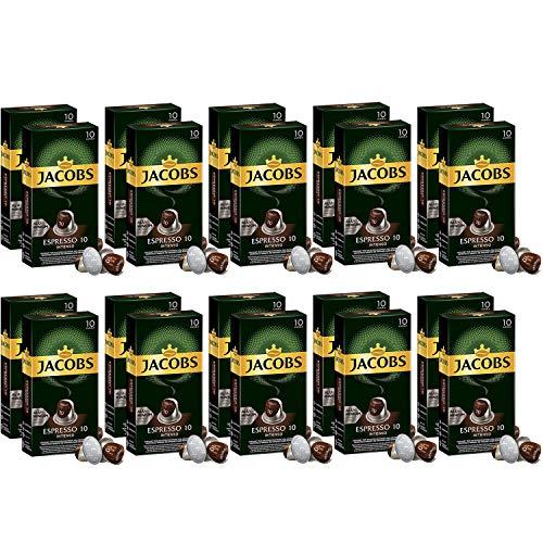 Jacobs Espresso Intenso - Nespresso® * Kompatible Aluminium-Kaffeekapseln - 20 Packungen mit 10 Kapseln (200 Getränke)