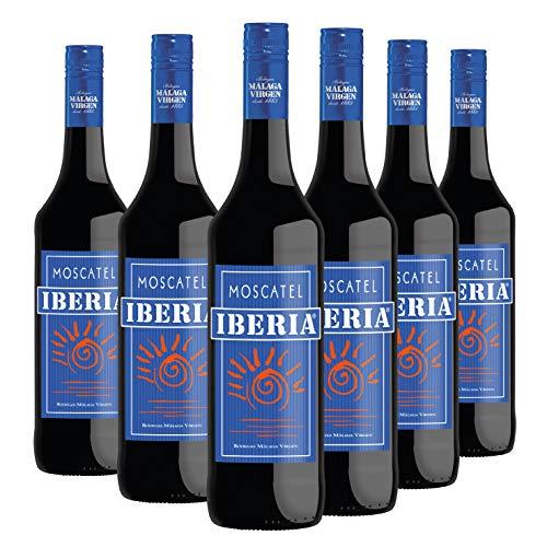 """Moscatel Iberia - Pack 6 botellas de 75cl - Vino de licor dulce D.O.""""Málaga"""""""