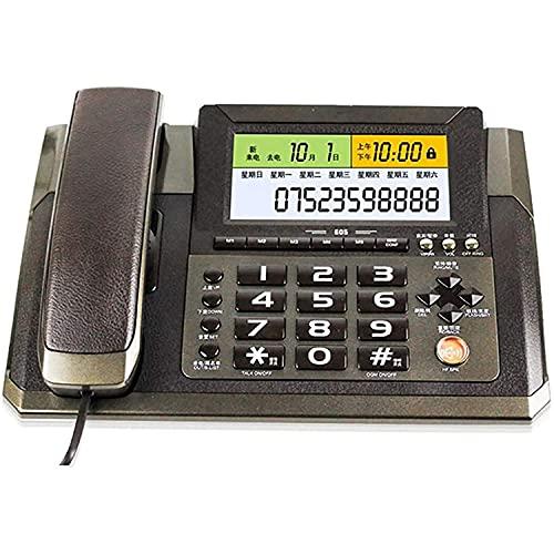 JDJFDKSFH Teléfono Teléfono de línea Fija con Hablando Retroiluminado Ajustable Volumen LCD Brillo Informe de Voz