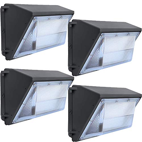 LEDMO LED Wall Pack Lights Repalces 800W HPS/HID Light 4 Pack 15600LM Outdoor Commercial Lighting Fixture 120W Waterproof Wall Mount Security Lighting 5000K