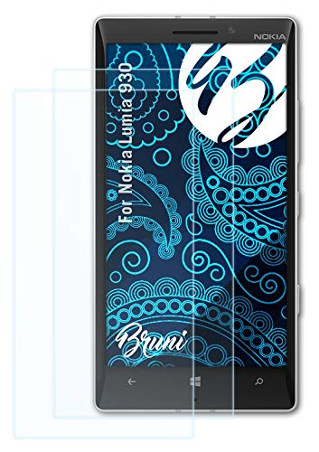 Bruni Schutzfolie kompatibel mit Nokia Lumia 930 Folie, glasklare Bildschirmschutzfolie (2X)