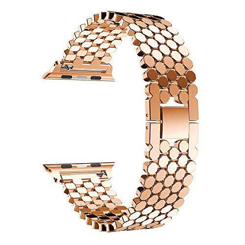 RHBLHQ Relojes Correas Reloj de Acero Inoxidable Band Pulsera de 42mm / 38mm / 40mm / 44mm Banda de Reloj de los Hombres y de Las Mujeres Correa de Reloj
