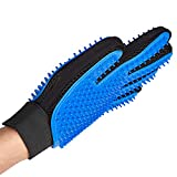 USION Pet Grooming Glove 259 Pins [NEW TWO-SIDED VERSION],Efficient Pet Hair Remover Mitt-Massage Tool Gentle Deshedding Brush for Long Short Fur Dogs Cats Rabbits Horses(1 PC)