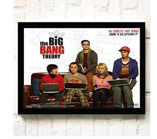 koushuiwa Ungerahmte Malerei The Big Bang Theory Tv Film Wandkunst Fotos Leinwand Poster Drucke Fotobilder Home Decor Wandbild Rahmenlos 40X50Cm R1060