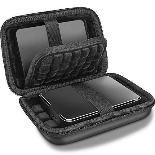 """ProCase Étui Disque Dur Externe 2 x 2,5"""", Housse de Protection pour WD, Toshiba, Canvio, Seagate, Samsung SSD HDD, Pochette Portable Antichoc, avec Poche pour Accessoires"""