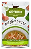 Rachael Ray Nutrish Purrfect Broths Natural Wet Food Complement for Cats, Grain Free Classic Chicken Recipe with White Meat Chicken & Veggies, 1.4 Ounce Pouch (24 Count)
