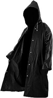 #N/a Casaco Impermeável Feminino Masculino para Exterior Impermeável Poncho Casaco Impermeável com Capuz