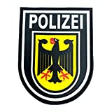 Polizei Police Deutscher Adler Taktisch PVC Airsoft Paintball Klettverschluss-Flecken Patch