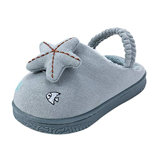 Review Toddler Baby Boys Girls Cartoon Star Clog Indoor Fleece Lined Slipper Winter Non-Skid Indoor ...