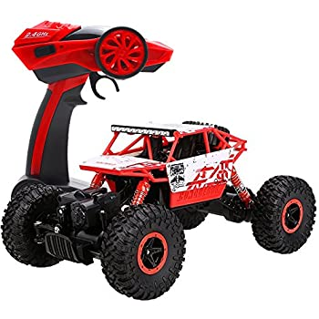Cheerwing 1 18 Rock Crawler 2.4Ghz Remote Control Car 4WD Off Road RC Monster Truck Red