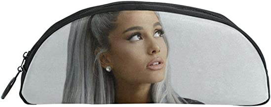 Davisry Aria-na-Gran-de Semicircle Pencil Case Pen Cosmetic Bag Pouch Holder for School Travel