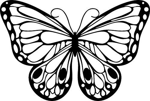 Marabu 0287000000004 - Silhouette Schablone, Ergebnisse mit Negativ - Effekt, PVC frei, wieder verwendbar, zum Sprühen, Walzen und Spachteln mit Textil- und Acrylfarben, 15 x 15 cm, Romantc Butterfly