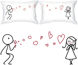BoldLoft from My Heart to Yours Couples Pillowcases (King Size) His and Hers Gifts for Girlfriend Wife Valentines Day Anni...