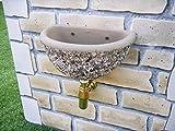 Lavandino a muro da terrazzo, in cemento e ghiaino colorata