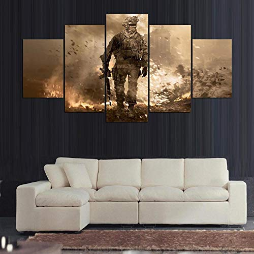 Imagen Gráfica Decoracion De Pared Cuadro En Lienzo Wulian Art Lienzo Pintura Mural Pintura Mural Pintura Colgante Pintura Al Óleo Decoración del Hogar Call of Duty